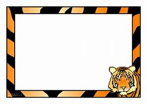 Tiger-themed A4 Page Borders  Sb4957