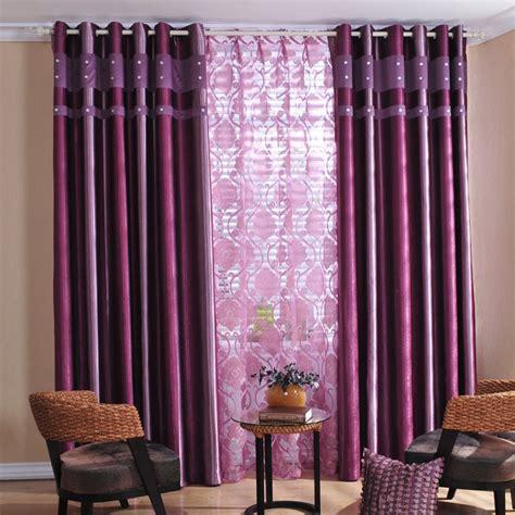Purple Valances Bedroom