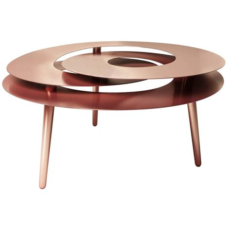 copper table l ikea rollercoaster large table copper plated stainless steel