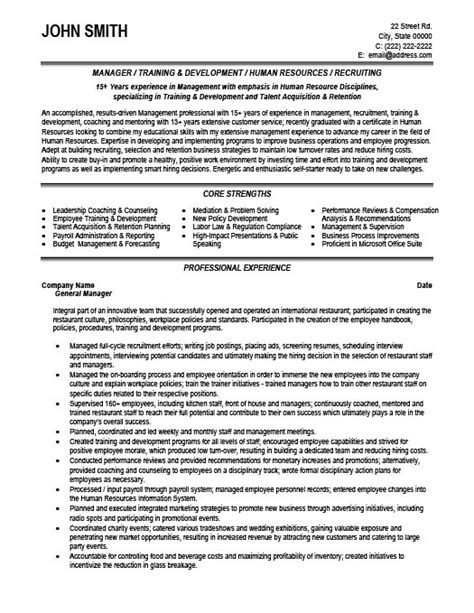 Manager Resume Template by General Manager Resume Exle Icebergcoworking