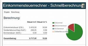 Steuern Berechnen 2014 : einkommensteuerrechner kostenlos online ~ Themetempest.com Abrechnung