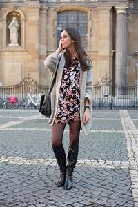 Outfit Floral babydoll dress and over knee boots - THE STYLING DUTCHMAN.