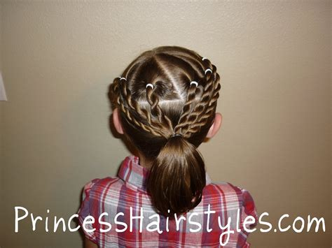 cute hairstyle for sports hairstyles for girls