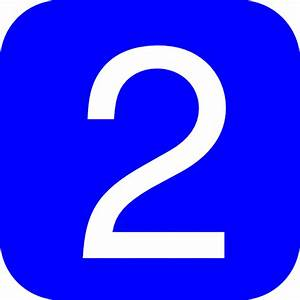 Blue, Rounded, Square With Number 2 Clip Art at Clker.com ...  2