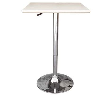 square white trundle adjustable height tall breakfast poseur tables exhibition tall tables