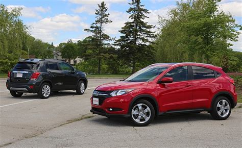 chevrolet trax   honda hr  comparison test
