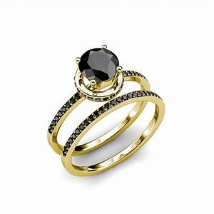 black diamond ring wedding set cool navokalcom With wedding ring sets with black diamonds