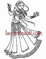 Coloring Pages Belly Adult Dance Dancer Goddess Dancers Dancing Printable Bailarinas Etsy Disenos Sona Este Disponible Articulo Esta Bollywood Drawn sketch template