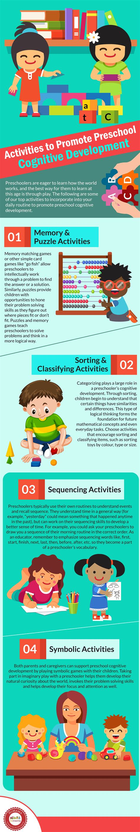 himama activities to promote preschool cognitive development 124 | HiMama Infographic Mar 2018