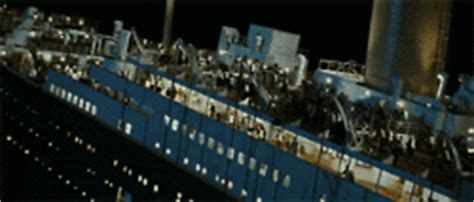 Titanic The Boat Sinking by Jack And Rose Boat Gif Find Share On Giphy