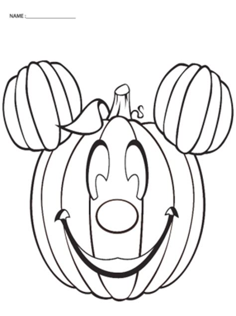 minnie mouse pumpkin coloring page coloring pages