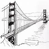 Bridge Suspension Drawing Golden Sketch Line Drawings Gate Francisco San Simple Draw Brooklyn Sketches State Stay Paintingvalley Getdrawings Grandma Tower sketch template