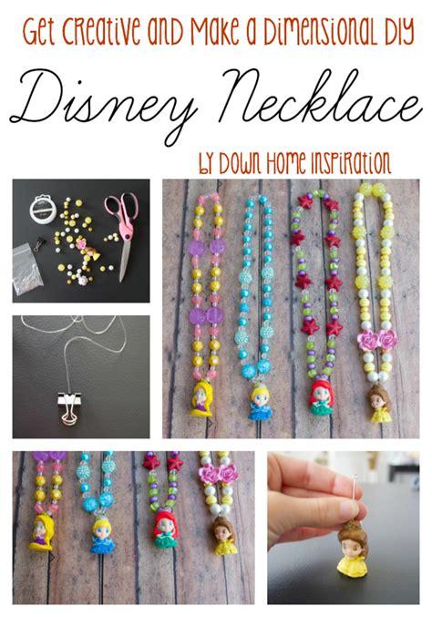 diy craft down get creative and make dimensional diy disney necklaces home inspiration
