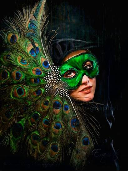 Peacock Mask Masquerade Masks Ball Feathers Themed