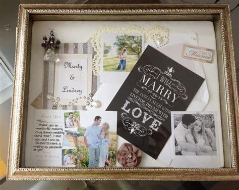 shadow box wedding   gift  mom anniversary