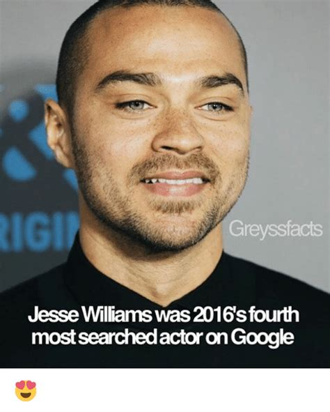 Jesse Williams Memes - rigi greysstacts jesse williams was 2016sfourth most searchedactor on google meme on sizzle