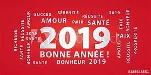 Voiture De L Année 2019 : bonne ann e 2019 banni re de v ux rouge et argent acheter ce vecteur libre de droit et ~ Maxctalentgroup.com Avis de Voitures