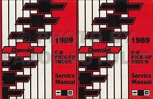 1989 Chevy Ck Truck Shop Manual Chevrolet Cheyenne Silverado Scottsdale Pickup