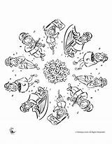 Coloring Pages Mandala Dancing Irish Dance Leprechauns Print Celtic Mandalas Patrick Leprechaun St Printer Saint Send Button Special Only Popular sketch template
