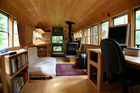 school bus converted  mobile home twistedsifter