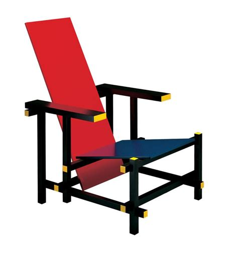 rietveld s and blue chair de stijl