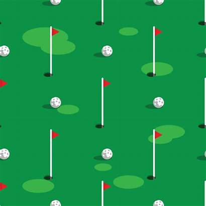 Golf Hole Background Course Pattern Vector Grass