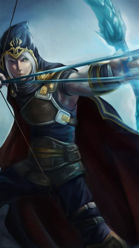 wallpaper league  legends game lol moba archer