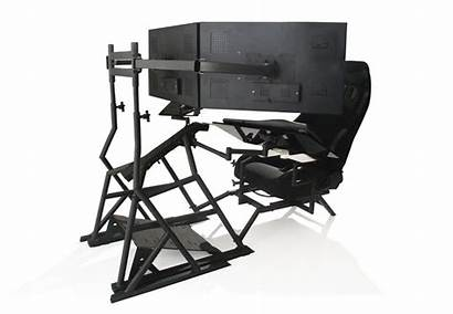 Obutto Workstation R3volution Ergonomic Cockpit Gaming Computer
