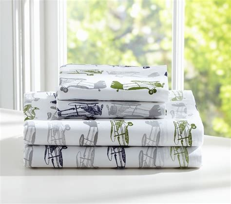 Pottery Barn Airplane Bedding by Sheet Set Biplanes Contemporary Bedding