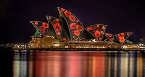 poppies will grow on the sydney opera house sails for