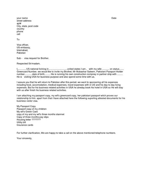 Sample Invitation Letter for Uk Visitor Visa Application