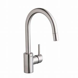 Grohe Concetto Küchenarmatur : grohe concetto single handle pull down sprayer kitchen faucet with dual spray in supersteel ~ Watch28wear.com Haus und Dekorationen