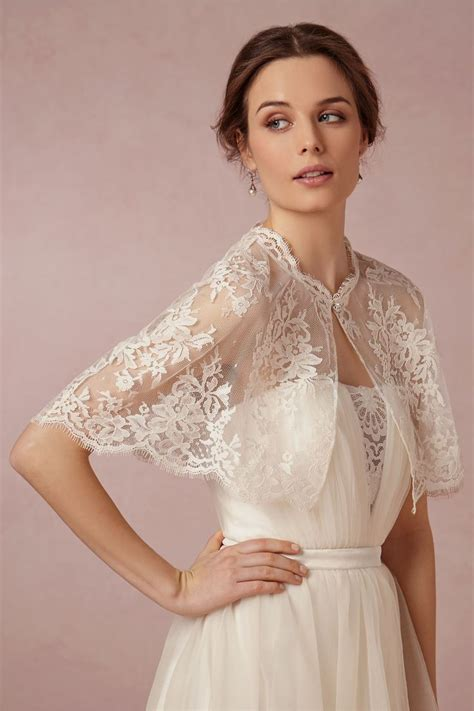 Chantilly Capelet Wedding Snow And Bridal Lace