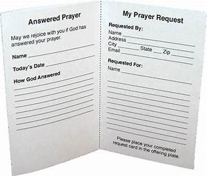 free printable prayer request the template for the card With template for prayer cards