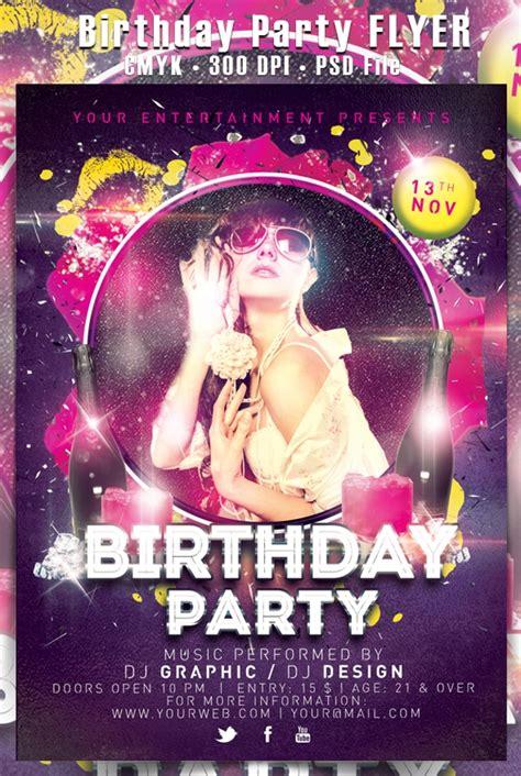 birthday party flyer design psd  design
