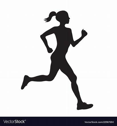 Silhouette Running Woman Vector Simple Givengain