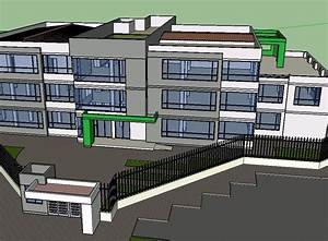 Administrative Building 3d Skp Model For Sketchup