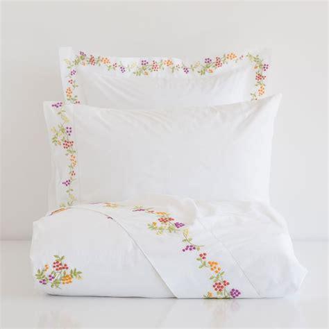 linge de lit percale brod 233 zara home maison et linge de lit