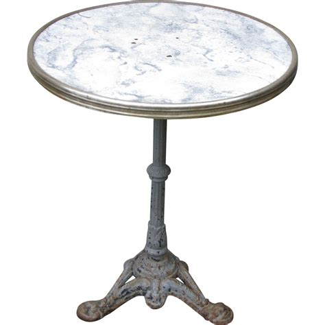 vintage iron base gueridon bistro table from