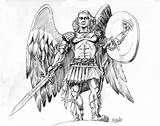 Archangel Frompo sketch template