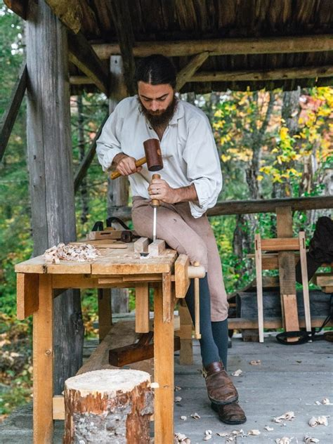 living history   maine frontier mortise tenon