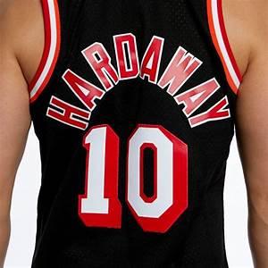 Mitchell Ness Miami Heat 10 Tim Hardaway Black Swingman