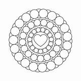 Coloring Pages Adult Mandala Printable Crazy sketch template