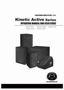Wharfedale Pro Kinetic 18ba User Guide