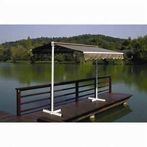 Store Banne Sur Pied : store banne double pente 3 x 3 m taupe store de terrasse ~ Premium-room.com Idées de Décoration