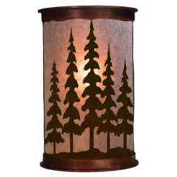 rustic pine trees wall sconce ironwood industries the log furniture store