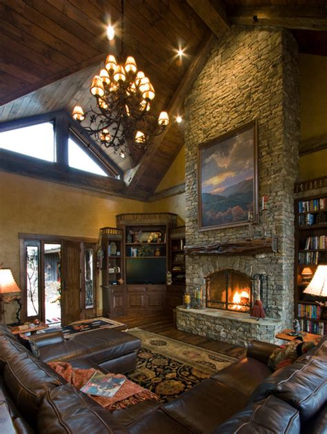 rustic traditional living room balsam mountain rustic elegance rustic living room Rustic Traditional Living Room