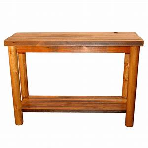 Barnwood sofa table with shelf for Barnwood shelves for sale