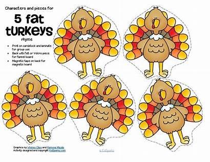 Turkeys Thanksgiving Preschool Clipart Printables Activities Kindergarten