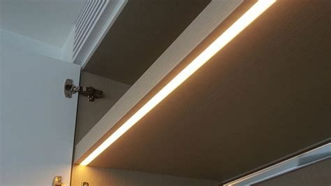 Cabinet LED lighting with fully concealed door activated